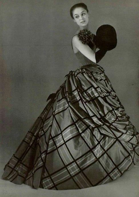 ~Pierre Balmain ball gown, 1954~ Women's vintage fashion photography photo image designer