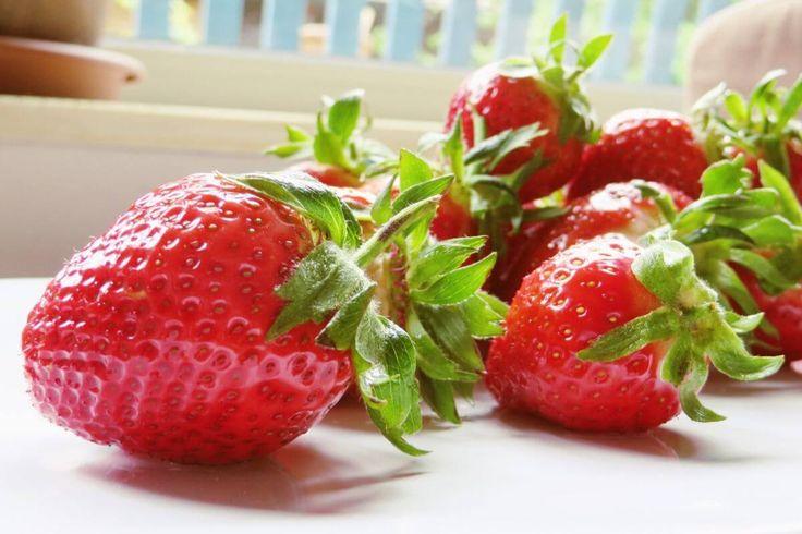 Kein Sommer ohne Erdbeeren! - Ab Anfang Juni gibt es sie wieder überall: deutsche Erdbeeren. Ohne leckere Erdbeeren wäre der Sommer ein ganzes Stück ärmer! #Beeren, #Eisen, #Erdbeer-Rezepte, #Erdbeer-Rucola-Salat, #Erdbeeren, #Folsäure, #Kalium, #Mangan, #VitaminA, #VitaminB1, #VitaminB2, #VitaminB3, #VitaminB6, #VitaminC, #VitaminE, #VitaminK