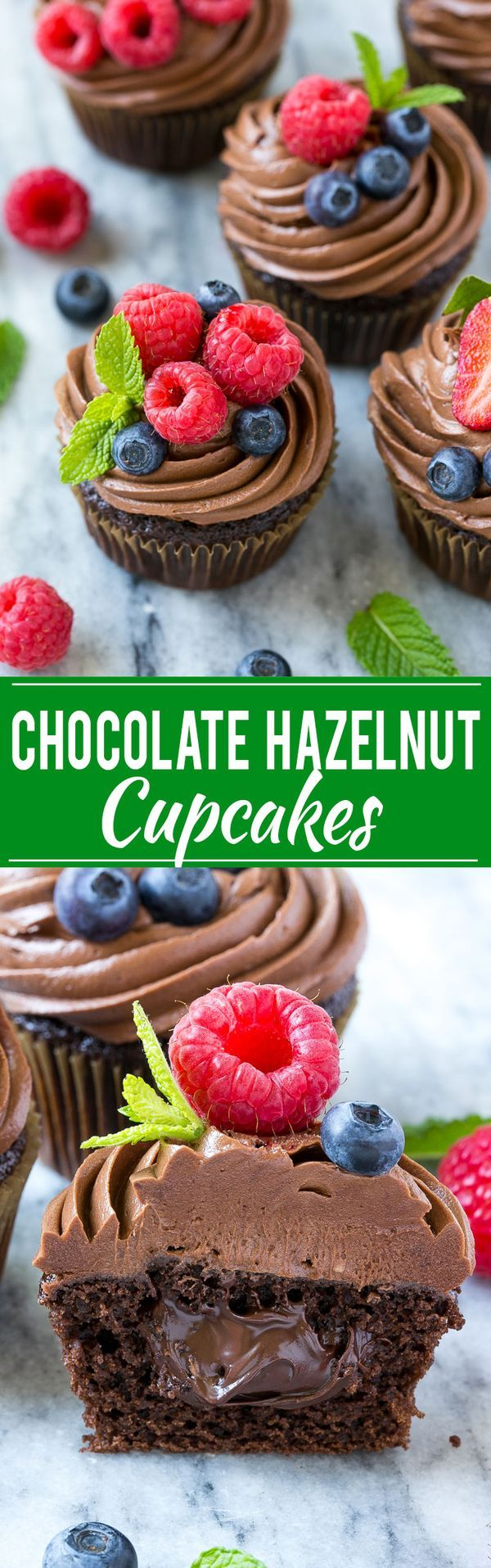 Chocolate Hazelnut Cupcakes | Posted By: DebbieNet.com