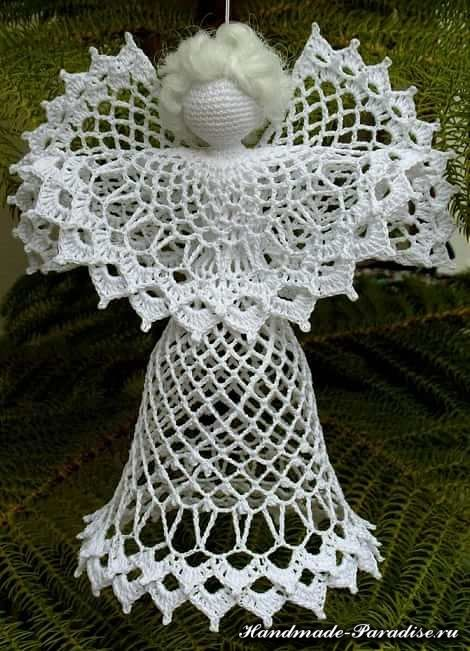 Schemes openwork crochet angels (3)