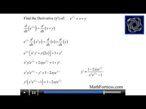 Calculus I: Implicit Differentiation (Level 2)