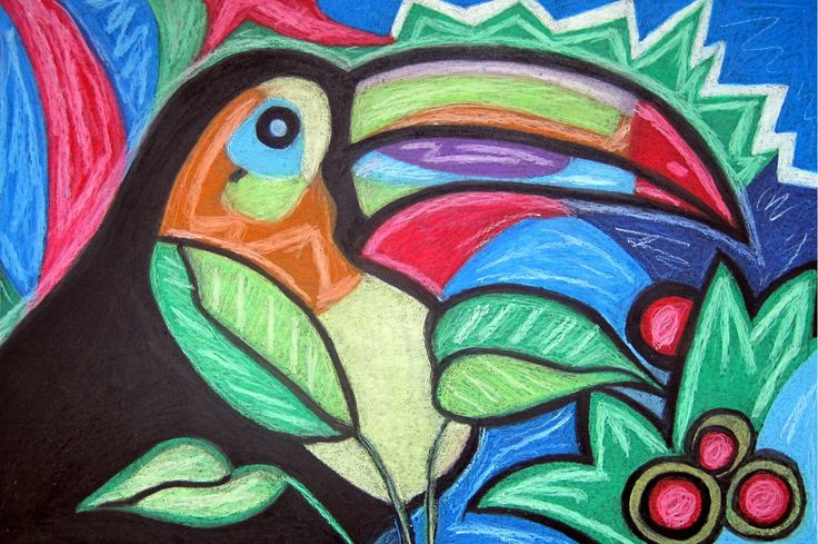 "Tropical Toucan 18x12"" By Linda Cheng Categories: #bird, #birdart, #toucan, #toucanart, #Toucanbirdpainting, #Animalpainting, #oilpainting, #painting, #Toucanbird , #Toucandrawing, #originalpainting, #contemporaryart, #abstractart, #modernart, #contemporarypainting, #abstractpainting, #popart By Linda Cheng www.linda-cheng.com"