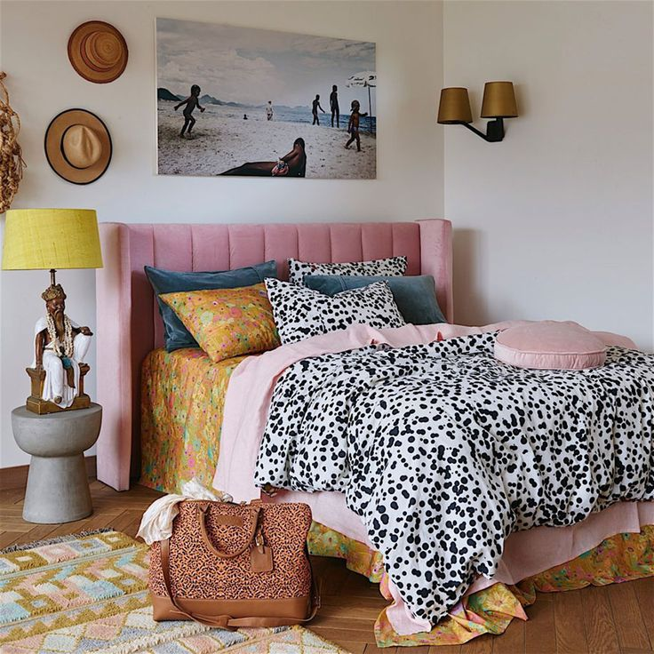 Modern bedding meets gypsy styling!