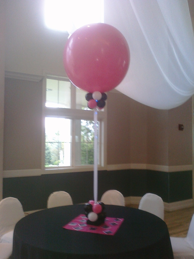 Inch balloon centerpieces bing images