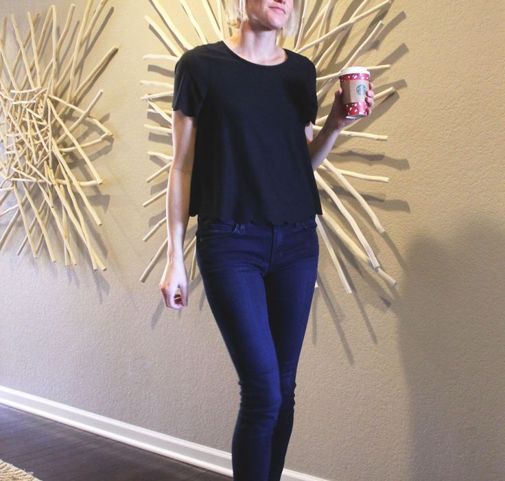 Scalloped Edge Tee & Jeans! My favorite part of this top is the scalloped edges, as it gives it a really fun and feminine feel. Shop this look at placefiftyfour.com. #shopping #women #tee #tshirt #jeans #casual #outfit #women #trend #fashion #style #top #scallop @placefiftyfour