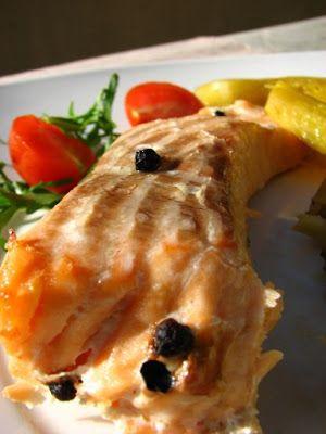 Cinco Quartos de Laranja: Salmão com batata-doce, brócolos e tomilho em papelote ...