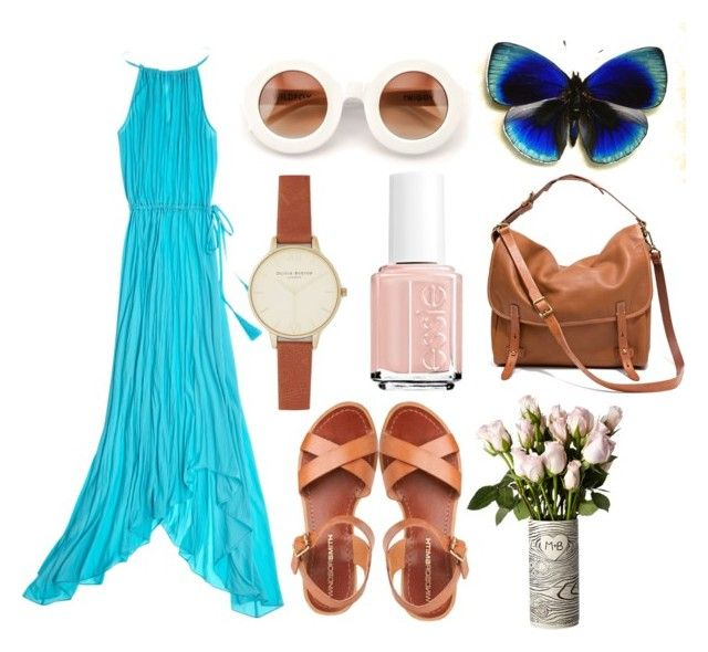 Boho Fashion by maryannbalint on Polyvore featuring polyvore, fashion, style, Calypso St. Barth, Madewell, Olivia Burton, Wildfox and Essie