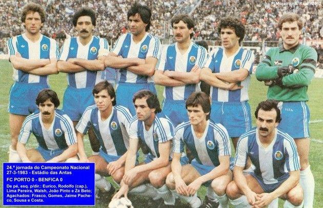 Manto Azul e Branco - 1982-1983 – Adidas a mostrar o logótipo nas camisolas do FC Porto!