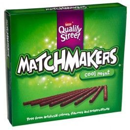 Matchmakers Mint chocolate sticks are full of crunchy mint flavoured pieces in a blend of milk and dark chocolate that are free from artificial colours, flavours and preservatives. This makes these thin sticks perfect for nibbling and sharing.