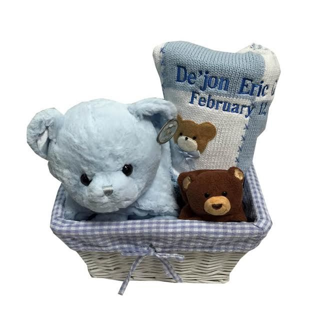 71 best baby gift baskets images on pinterest baby gift baskets namely newborns teddy bear baby gift basket with names 17500 negle Image collections