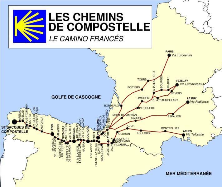 Chemin De Compostelle Itineraires Et Etapes Du Pelerinage Chemin De Compostelle Saint Jacques De Compostelle St Jacques