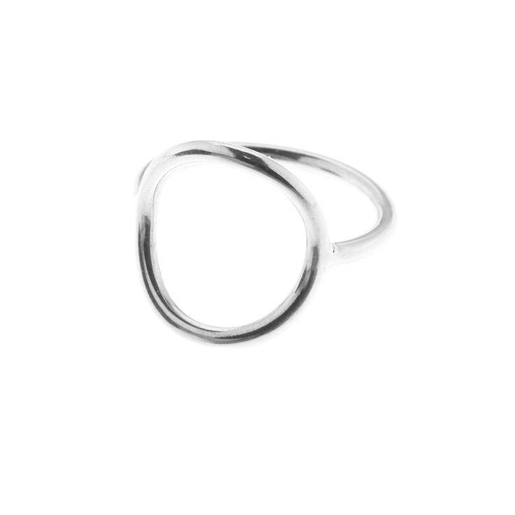 Sterling silver circle ring (Size 52-60) from By Malene Meden at Svane & Lührs. Worldwide shipping € 5: www.svane-luhrs.com.