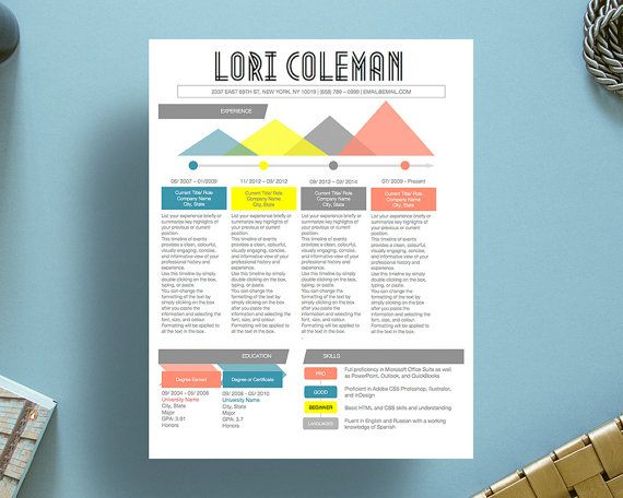 9 best Colorful Infographic Resume Template images on Pinterest - infographic resume builder