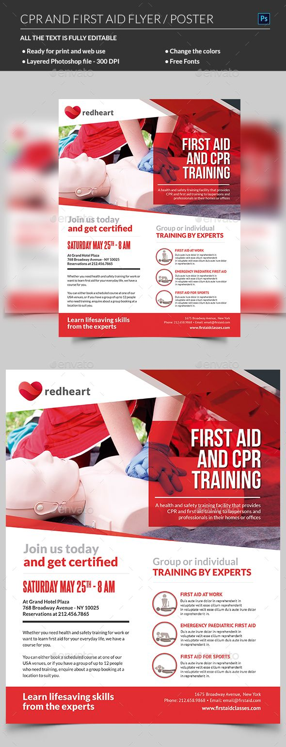 Cpr Training Flyer Template Cpr Training Cpr Classes Cpr