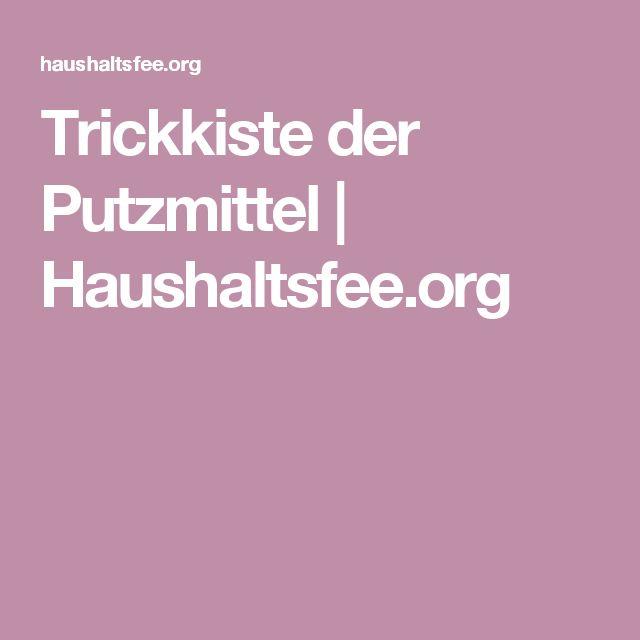 Trickkiste der Putzmittel   Haushaltsfee.org