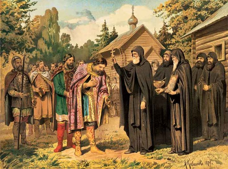 """It would be a mistake, however, to suggest that Orthodoxy has enthusiastically endorsed war. Even in cases of the defense of a Christian people from Islamic invasion, the spiritual gravity of warfare has not been forgotten. For example, St. Sergius of Radonezh in the fourteenth century gave his blessing to Grand Prince Dimitri to fight a defensive war against the Tatar Khan only..."" (Fr. Philip LeMaster)"