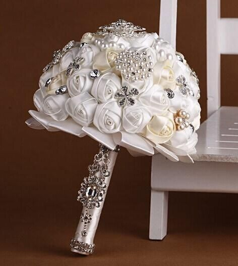 Wholesale Wedding Accessories - Buy Wedding Dresses Satin Wedding Bouquet Crystal Handmade Flowers Bouquets Bridal Wedding Flowers Bridal Bouquets Nine Kinds of Color Now, $41.89 | DHgate.com