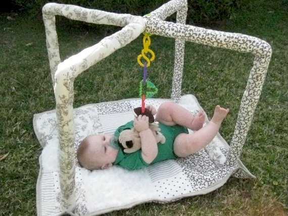Baby Play Mat and Gym with PVC Pipe by hillsroe on Etsy, $40.00
