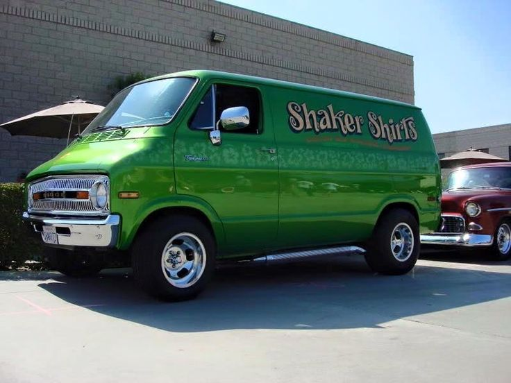 Shaker Shirts Custom 70s Dodge Van