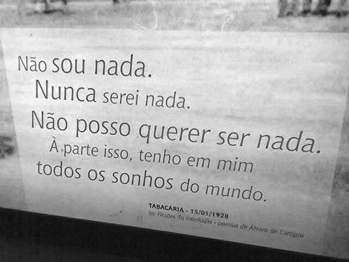 """Imitação da Vida: Fernando Pessoa (Álvaro de Campos), """"Tabacaria"""""""