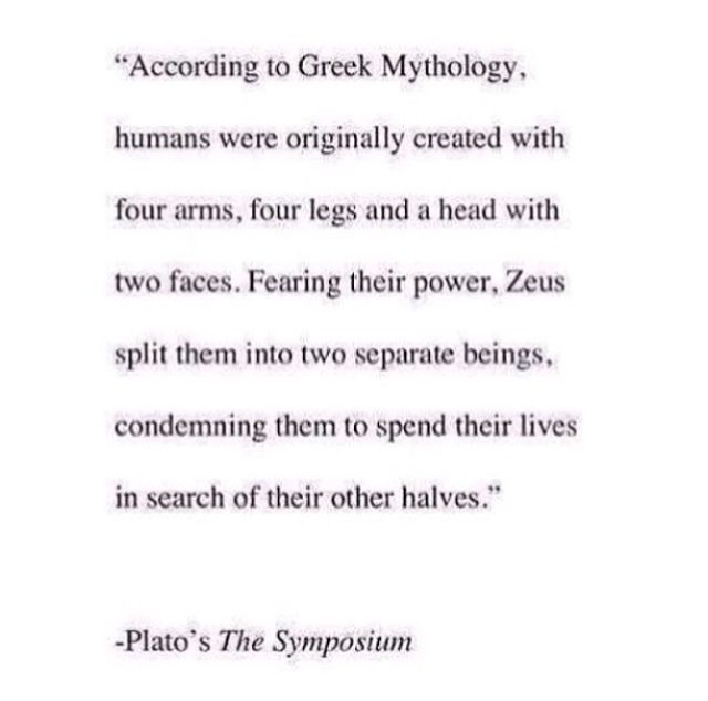 Interesting theory on Soul Mates based on Greek Mythology & Socrates ♊️