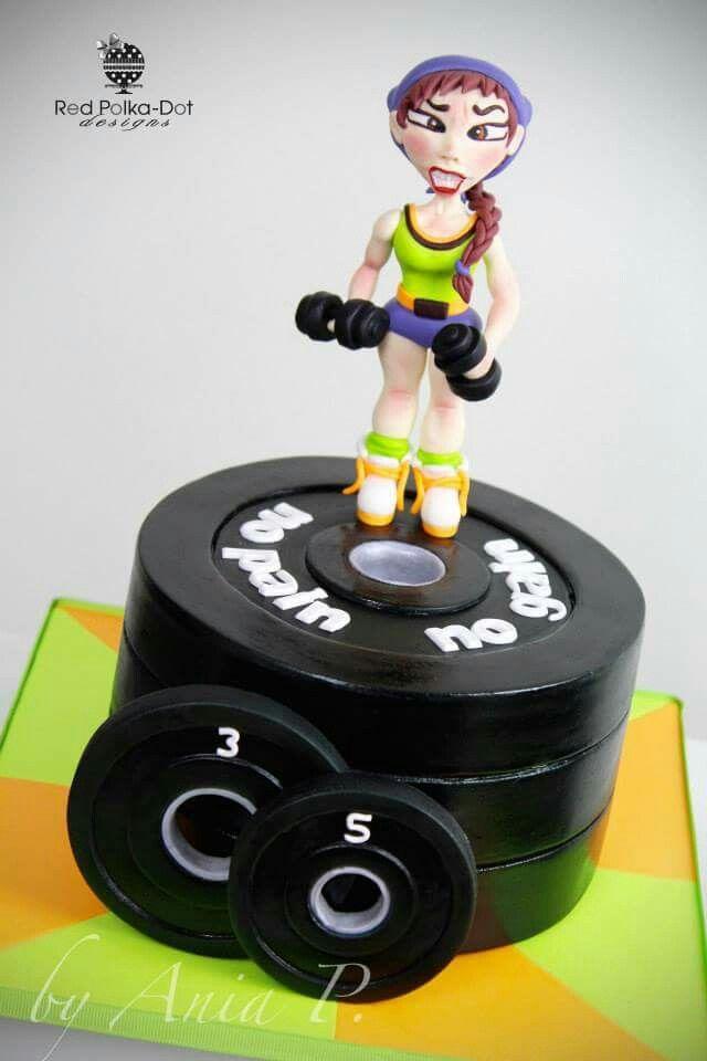 Cake Designs For Gym : Gym cake idea Sport Pinterest Cake ideas, Gym and ...