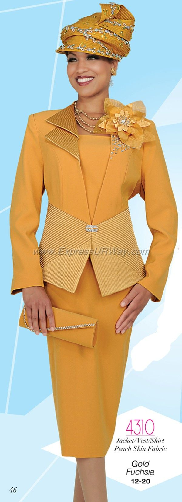 Womens Church Suits by Champagne for Fall 2014 - www.ExpressURWay.com…