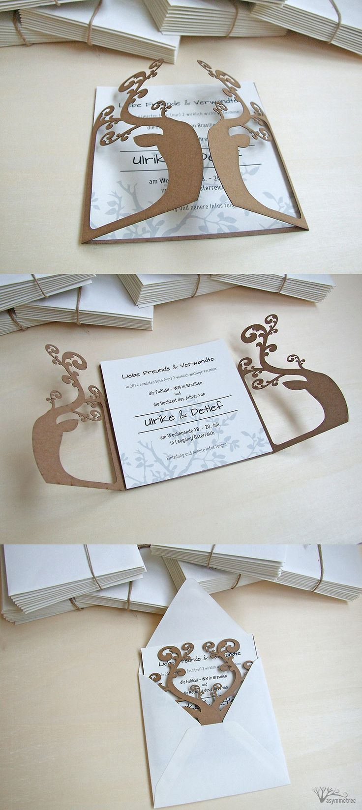 ♥ Laser Cut Wedding Invitations by Asymmetree