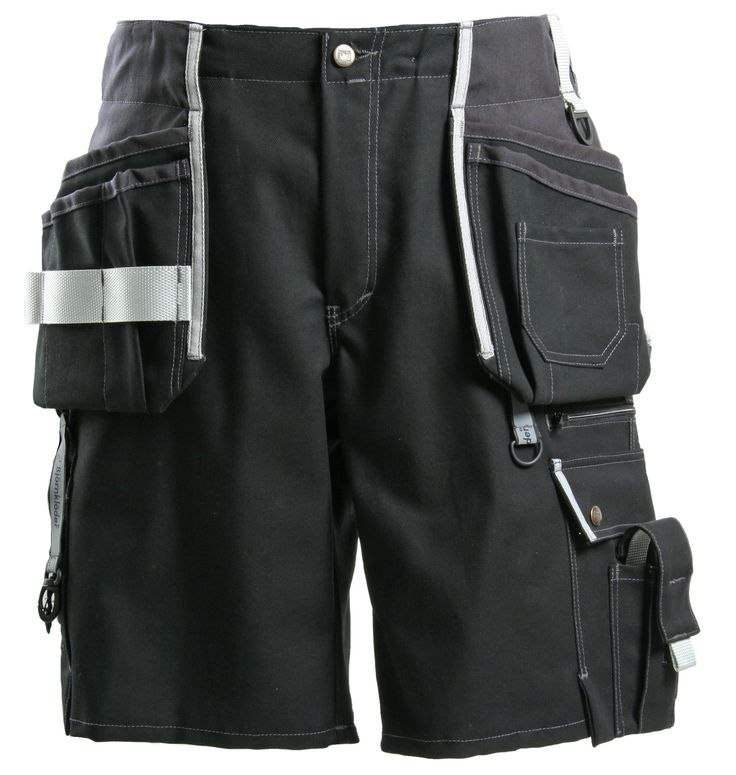 Faceline Workwear Shorts - JUBILEE Workwear Collection - products new home - Faceline Workwear_Carpenter_Jubilee_Tool pocket_Work shorts_Black by Björnkläder