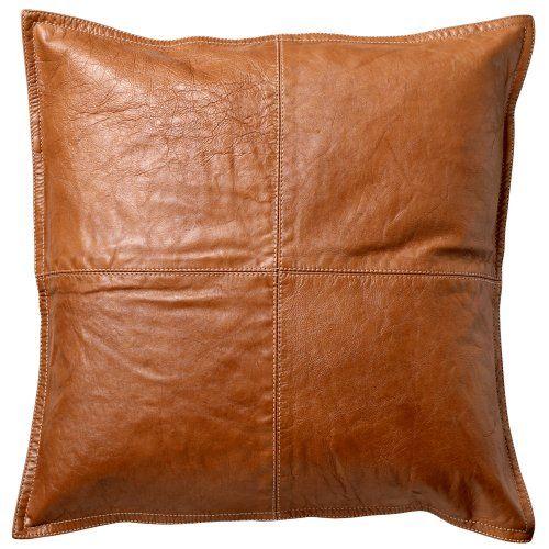 Danish Tan Brown Leather Cushion