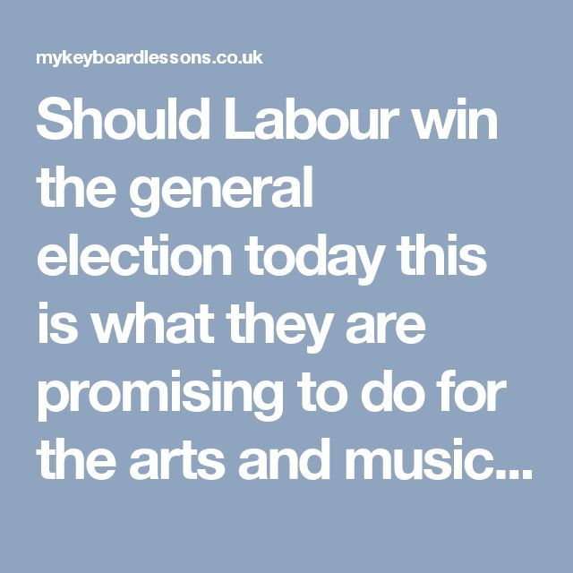 Should Labour win the general electiontoday this is what they are promising to do for the arts and music industries. Here is what Labour Deputy Leader Tom Watson suggests