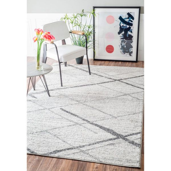 Nuloom Contemporary Striped Grey Rug 8 6 X 11 Ping The Best Deals On 7x9 10x14 Rugs Interior Design Pinterest