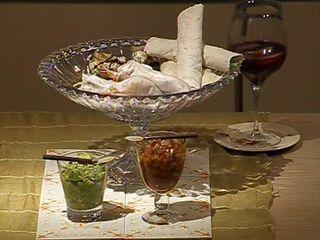 Wraps en labash, papel de arroz, hojas de parra