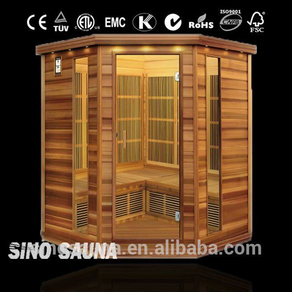 Best sales corner carbin infrared heater nudist hemlock far infrared sauna with wide frequency carbon heater