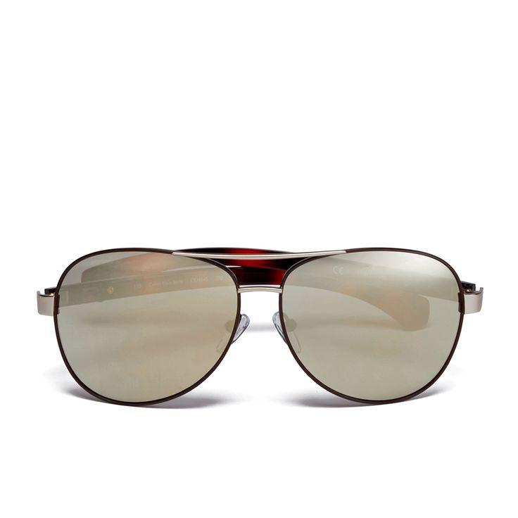 Calvin Klein Jeans Women's Aviator Sunglasses - Gold