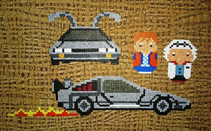 Back to the Future set hama mini beads by 80N111AX.