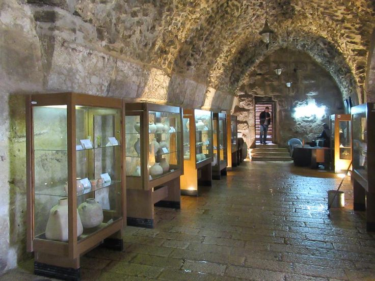 The museum in Qa'lat ar-Rabad (1184) at  Ajloun, Jordan, occupies one of the castle's vaulted chambers.