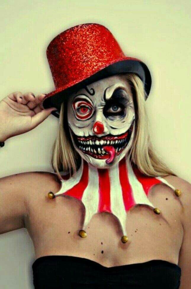 77 best creepy clowns images on Pinterest Evil clowns, Make up - scary halloween costume ideas 2016