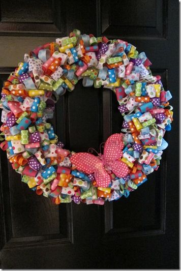 Easter Wreath...might actually use up some of my ribbon stash