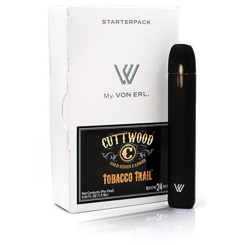 Cuttwood Vapors My. Von Erl LiquidPod Vaporizer Starter Kit (Tobacco Trail) - Included in the My Von Erl Vaporizer Kit:1 x My VON ERL. Vaporizer E-Cigarette (with a 350mAh battery)1 x Cuttwood Vapors Liquidpod (Tobacco Trail flavor 24mg/ml)1 x USB battery charger1 x ManualVon Erl creates a new category in the vaping market with its new My. Von Erl. The great vaping performance of an e-cigarette combined with the modern design of a cigalike. The 350 mAh battery guarantees a great vaping…