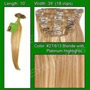 #27/613 Golden Blonde w/ Platinum Highlights – 10 inch