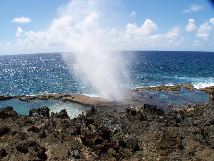 Tinian Island. this is the blowhole. A beautiful place to visit