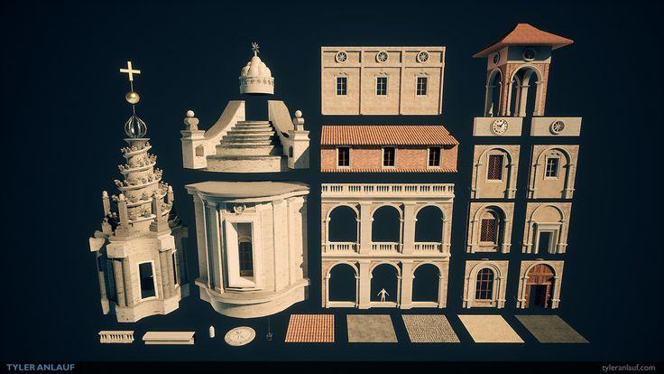ArtStation - Roman Church of Sant'Ivo, Tyler Anlauf
