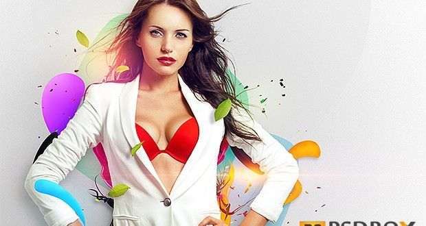 Learn how to create cool colored abstract wallpapers with beautiful models in Photoshop