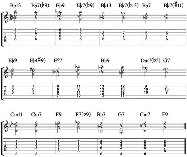 Passing Jazz Blues Chords