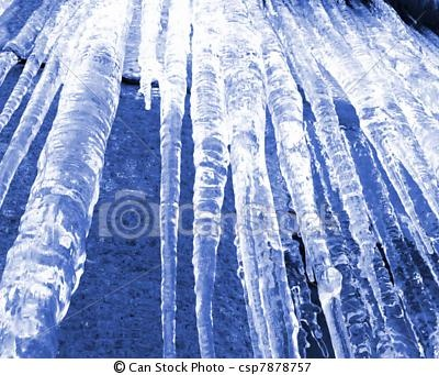 Stock Photo - Icicles - winter
