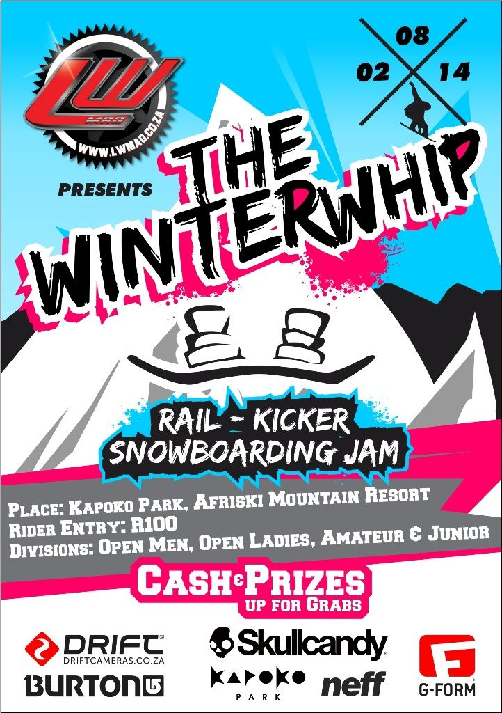 Look what is coming up in August! Have you entered the LW Mag Winter Whip Rail & Kicker #Snowboarding Jam? We still have midweek spots in our new backpackers! Contact bookings@afriski.net