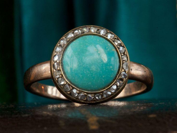 1880s Turquoise & Diamond Ring