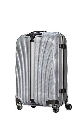 "NEW SILVER Samsonite Cosmolite 55cm 20"" Multiwheel Luggage Carry-on Curv Spinner"