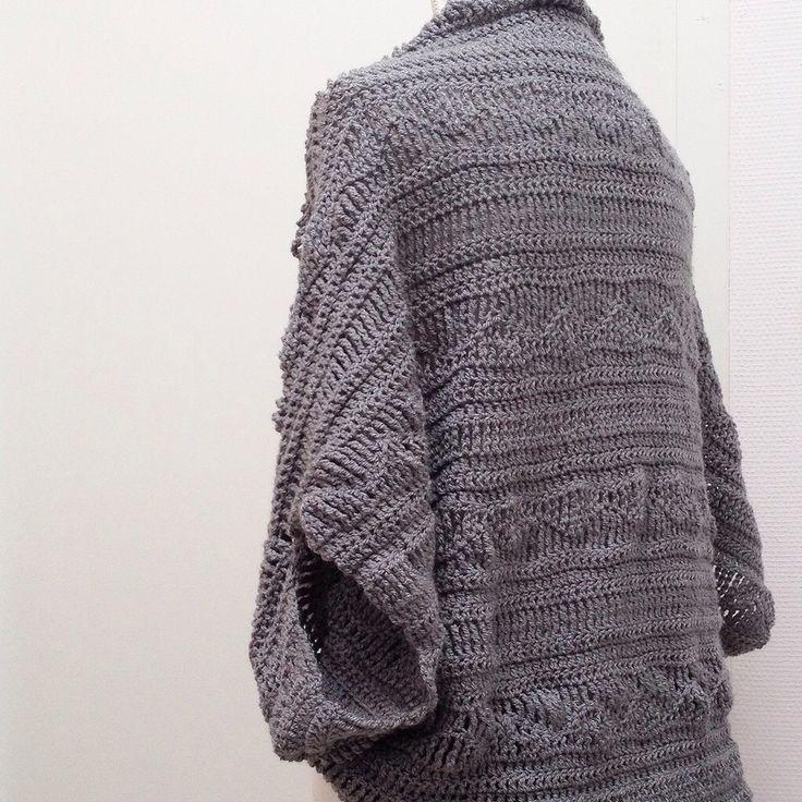 Free crochet pattern shrug 2